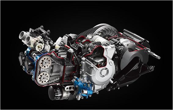 Ισχρός δικύλινδρος κινητήρας 550ε.κ.