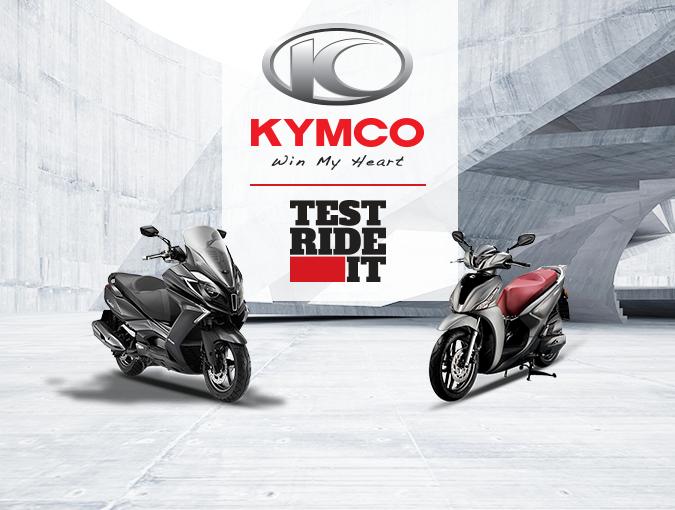 KYMCO TEST RIDE IT Οδηγείς και κερδίζεις!