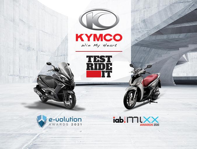 «Kymco: Test Ride It»: Η επιτυχία σφραγίστηκε με τρία βραβεία